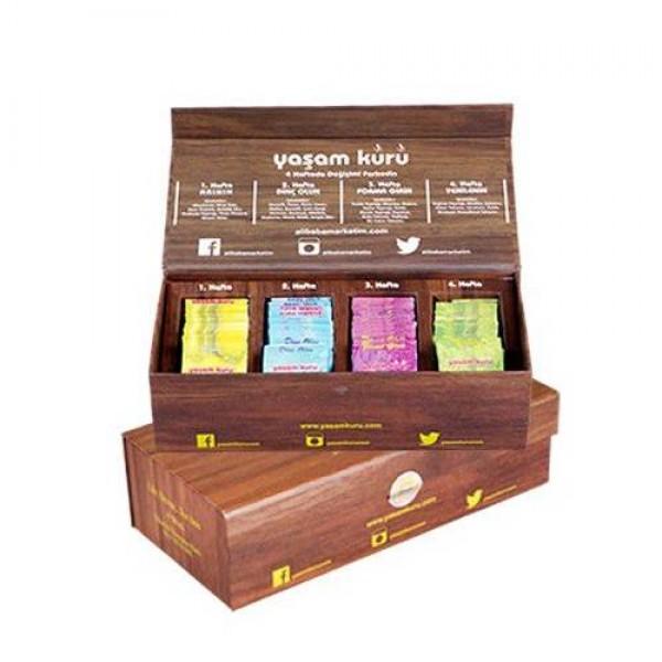 Yaşam Kürü Çayı 4 lü Çay Seti Özel Kutu - Orjinal Yaşamkürüçayı
